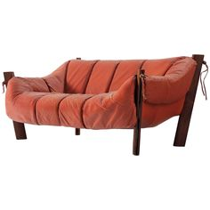 Percival Lafer Two-Seat Sofa in Rosewood and Leather 1