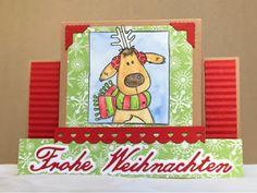 Kerstin's kleine Bastelwelt: Knallig und klassisch, Christmas 2016, Weihnachten, Center step card