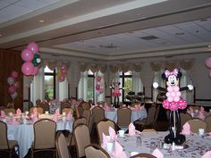 balloon centerpiece | makinmemories4u.com Minnie Mouse centerpiece | Flickr - Photo Sharing!