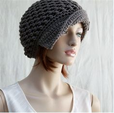 Crochet Hat Brimmed Hat Cloche 1920's Style  by endlesscreation