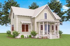Delightful Cottage House Plan - 130002LLS thumb - 02