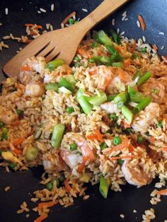 Shrimp Fried Rice-I am going to leave out the peas and add bok choy, mushrooms, bamboo shoots, etc.