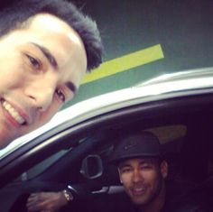 Neymar with a fan at McDonald's (drive) in Barcelona | 01.03.15
