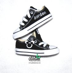 Mickey Mouse Toddler Converse Chuck Taylor Canvas Sneakers Personalized  With Name Many Colors Available 02925a3a8a