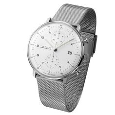 Max Bill Chronoscope with numbers Milanese by Junghans
