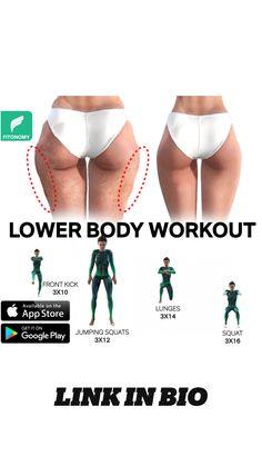 Leg Toner Workout, Full Body Gym Workout, Fitness Workout For Women, Butt Workout, Bodyweight Workout Routine, Gym Workout Videos, Gym Workout For Beginners, Mini Workouts, Flexibility Workout