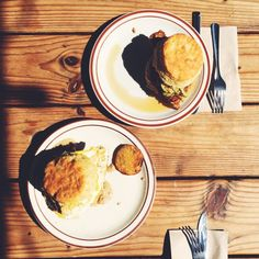 Biscuit sandwiches from Pine State Biscuits in Portland