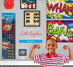 Little Superhero – Superhero Art For Kids by Holli Conger and @Aaron Christensen