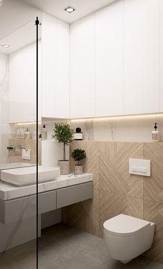 Modern and warm apartment in Katowice Poland - Dezign Ark (Beta) Home Building Design, Home Room Design, Loft Design, House Design, Warm Bathroom, Bathroom Renos, Small Bathroom, Bathroom Design Luxury, Modern Bathroom Design