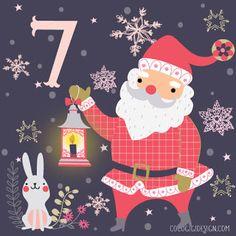 Christmas advent 7 © Gina Maldonado 2015 cocogigidesign.com #Christmas #santa #advent