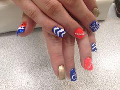 OKC Thunder nail design!!