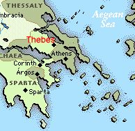 An analysis of the plague in the town of thebes in oedipus the king