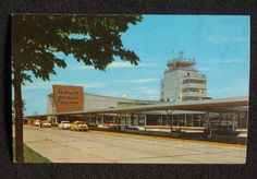 Image detail for -1950s General Mitchell Field Air Terminal Airport Old Cars Milwaukee ...