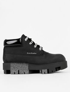 meet a6594 13b1a Acne Studios Tinne Low Boot Black Black Overnight Acne Remedies, Home  Remedies For Acne