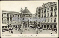 Plaza de José Antonio Primo de Rivera en Málaga. Foto antigua de MALAGA, MALAGA (ANDALUCIA). Plusesmas.com