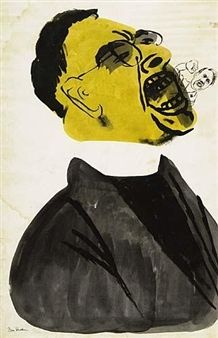 Screaming Priest, Hitler at his Mouth By Ben Shahn ,Circa  1940