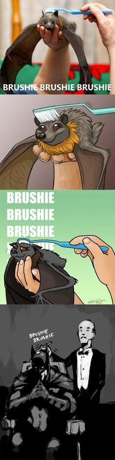 Brushing A Bat