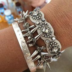 Normally not a silver girl but I'm really loving this arm party! #sdjoy | Lisa-Mari Sears | Stella & Dot