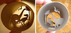 Science themed toilet roll art (yes, it does exist) #remarkable  by David Ng