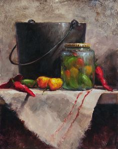 Hot Stuff by Kathy Tate Oil ~ 14 x 11