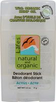 Lafe's Natural and Organic Deodorant Stick with Organic Hemp Oil. It costs 3.89 for one stick. It can be purchased of the Vitascost website. It's another great eco-alternative to the normal daily products that we use.