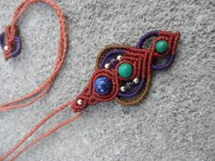 Various stones - Macrame pendants -stone sizes approx. 8mm,6mm,4mm