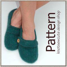 (4) Name: 'Crocheting : Felted Ladies Slip-ons