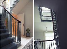London Victorian House, Stair Hall, Gray Swedish Carpet Runner | Remodelista