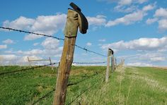 Nebraska...yes, you will see cowboy boots on fence posts...
