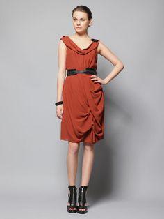 $1095 Gorgeous Vera Wang Draped Silk Dress Sz 6 | eBay