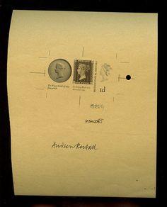 penny black stamp on stamp