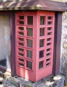 Red window at Taliesin
