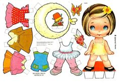 (⑅ ॣ•͈ᴗ•͈ ॣ)                                                               ✄paper doll muneca recortables | Recortables Muñecas | Manualidades a Raudales