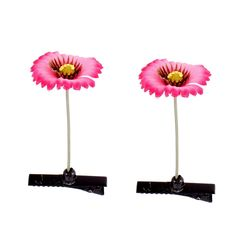 uxcell Floral Antenna Hairpin Artificial Flower Hair Clips 2 Pcs Fuchsia >>> Continue to the product at the image link.