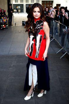 En las calles de Londres durante Fashion Week oto�o-invierno 2016