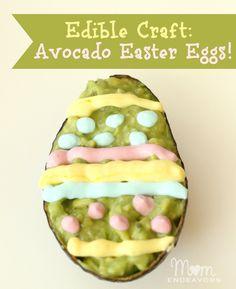 Creative fun food-- Avocado Easter Eggs!