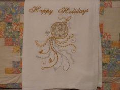Happy Holidays Flour Sack Dish Towel by SugarHillEnterprises
