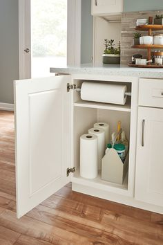 Organization is the key to a stylish kitchen! Click to discover smart ways to organize your kitchen with MasterBrand Cabinets.