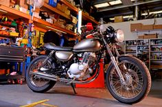 Suzuki TU250 with a mod kit from Mid Life Cycles