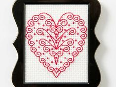 All you need is love, love, love! Our Bucilla team this month has a fun free heart cross stitch pattern download just in time for Valentine's Day!