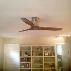 GE Phantom 54 in. Brushed Nickel Indoor LED Ceiling Fan with Remote ...