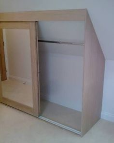 built in wardrobe with a sloping ceiling - Google Search                                                                                                                                                      More