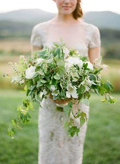 Garden style bouquet. Natural classic bouquet. Elegant Outdoor Garden Wedding | Made From Scratch