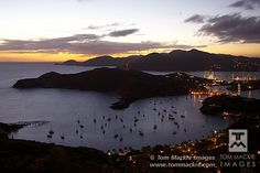 View over Nelson's Dockyard at Night, Antigua, Caribbean, West Indies  © Tom Mackie Photography