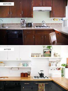 Efter budgetrenovering ser köket helt annorlunda ut – wow vilken skillnad! - Sköna hem