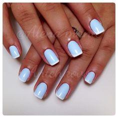 Baby blue manicure