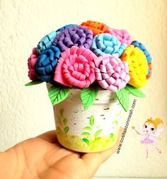De Fomi on Pinterest | Origami Flowers, Decoracion De Macetas and Goma