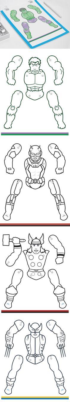 Preschool crafts Superhero - Superhero Jumping Jacks Coloring edition vol 2 Summer Camp Crafts, Camping Crafts, Superhero Classroom, Superhero Party, Preschool Crafts, Crafts For Kids, Kids Diy, Create Your Own Superhero, Super Hero Day