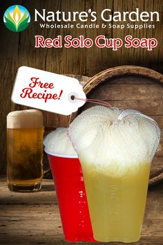Free Red Solo Cup Soap Recipe by Natures Garden
