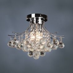 Great chandelier for low ceilings.